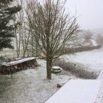 Somme Hauts-de-France sneeuw tuin