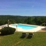 Dordogne Nouvelle Aquitaine chambres dhotes panoramisch uitzicht met zwembad