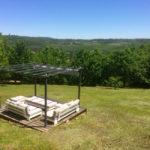 Dordogne Nouvelle Aquitaine panoramisch uitzicht en zonneterras