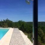 Dordogne Nouvelle Aquitaine zwembad met uitzicht