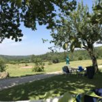 Lot Occitaine vieuw camping platteland