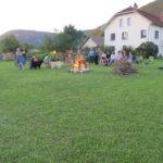 Ain Auvergne Rhones-Alpes kampvuur camping