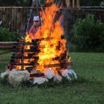 Ain Auvergne Rhones-Alpes huis vuur camping