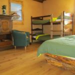 Ain Auvergne Rhones-Alpes kamer met stapelbed vakantieverblijf